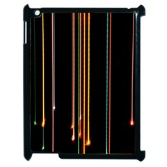 Fallen Christmas Lights And Light Trails Apple Ipad 2 Case (black) by Mariart