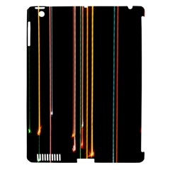 Fallen Christmas Lights And Light Trails Apple Ipad 3/4 Hardshell Case (compatible With Smart Cover) by Mariart