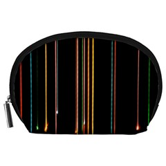 Fallen Christmas Lights And Light Trails Accessory Pouches (large)  by Mariart