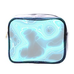 Blue Patterned Aurora Space Mini Toiletries Bags by Mariart