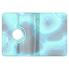 Blue Patterned Aurora Space Kindle Fire Hdx Flip 360 Case by Mariart