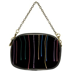 Falling Light Lines Perfection Graphic Colorful Chain Purses (one Side)  by Mariart