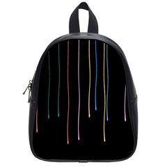 Falling Light Lines Perfection Graphic Colorful School Bags (small)  by Mariart