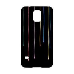 Falling Light Lines Perfection Graphic Colorful Samsung Galaxy S5 Hardshell Case  by Mariart