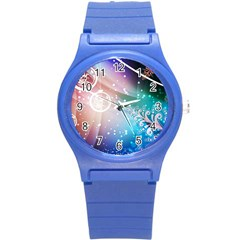Christmas Round Plastic Sport Watch (s) by Mariart