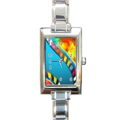 Color Dream Polka Rectangle Italian Charm Watch by Mariart
