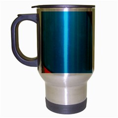 Color Dream Polka Travel Mug (silver Gray) by Mariart