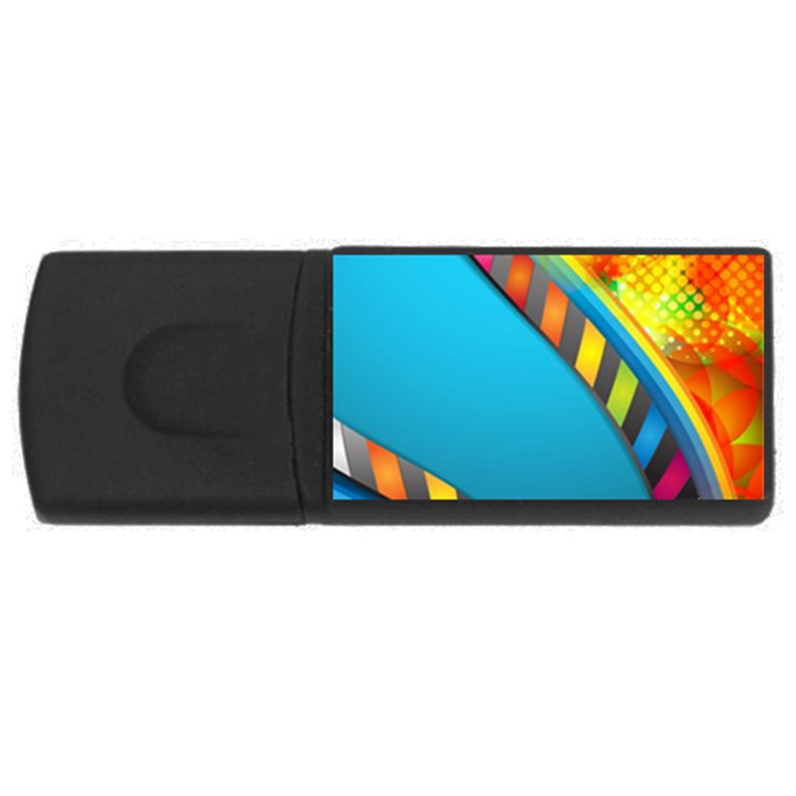 Color Dream Polka USB Flash Drive Rectangular (4 GB)