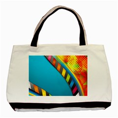 Color Dream Polka Basic Tote Bag (two Sides) by Mariart