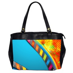 Color Dream Polka Office Handbags (2 Sides)  by Mariart