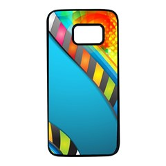 Color Dream Polka Samsung Galaxy S7 Black Seamless Case