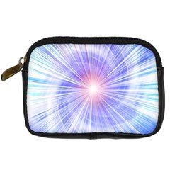 Creation Light Blue White Neon Sun Digital Camera Cases by Mariart