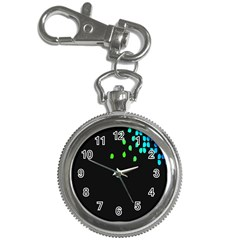 Green Black Widescreen Key Chain Watches by Mariart