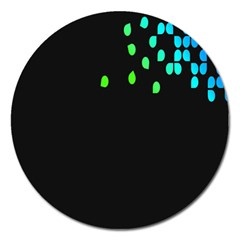 Green Black Widescreen Magnet 5  (round) by Mariart