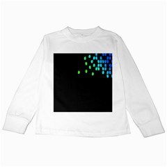 Green Black Widescreen Kids Long Sleeve T Shirts by Mariart
