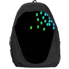 Green Black Widescreen Backpack Bag by Mariart