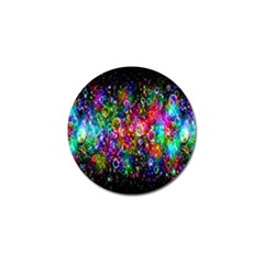 Colorful Bubble Shining Soap Rainbow Golf Ball Marker by Mariart