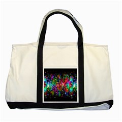 Colorful Bubble Shining Soap Rainbow Two Tone Tote Bag by Mariart
