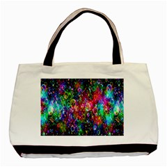 Colorful Bubble Shining Soap Rainbow Basic Tote Bag (two Sides) by Mariart
