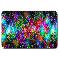 Colorful Bubble Shining Soap Rainbow Large Doormat  by Mariart