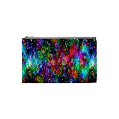 Colorful Bubble Shining Soap Rainbow Cosmetic Bag (small)  by Mariart