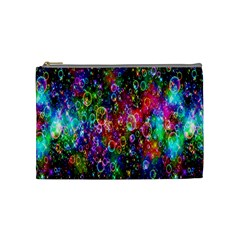 Colorful Bubble Shining Soap Rainbow Cosmetic Bag (medium)  by Mariart