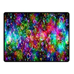 Colorful Bubble Shining Soap Rainbow Fleece Blanket (small) by Mariart
