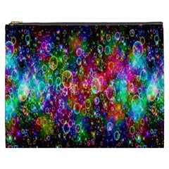 Colorful Bubble Shining Soap Rainbow Cosmetic Bag (xxxl)  by Mariart