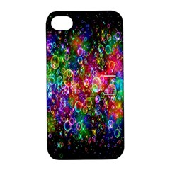 Colorful Bubble Shining Soap Rainbow Apple Iphone 4/4s Hardshell Case With Stand by Mariart