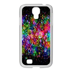 Colorful Bubble Shining Soap Rainbow Samsung Galaxy S4 I9500/ I9505 Case (white) by Mariart