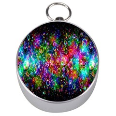 Colorful Bubble Shining Soap Rainbow Silver Compasses by Mariart