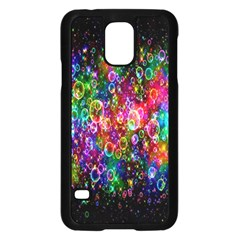 Colorful Bubble Shining Soap Rainbow Samsung Galaxy S5 Case (black) by Mariart