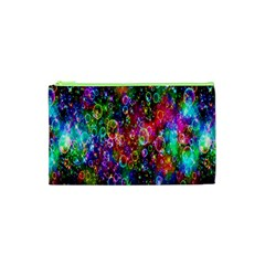 Colorful Bubble Shining Soap Rainbow Cosmetic Bag (xs) by Mariart