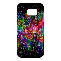 Colorful Bubble Shining Soap Rainbow Samsung Galaxy S7 Edge Hardshell Case by Mariart