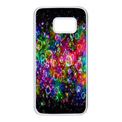 Colorful Bubble Shining Soap Rainbow Samsung Galaxy S7 White Seamless Case by Mariart