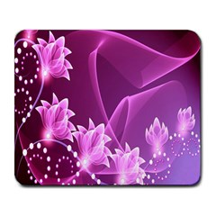 Lotus Sunflower Sakura Flower Floral Pink Purple Polka Leaf Polkadot Waves Wave Chevron Large Mousepads by Mariart