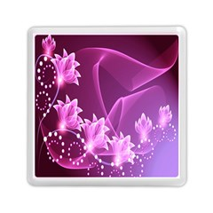 Lotus Sunflower Sakura Flower Floral Pink Purple Polka Leaf Polkadot Waves Wave Chevron Memory Card Reader (square)  by Mariart