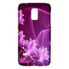Lotus Sunflower Sakura Flower Floral Pink Purple Polka Leaf Polkadot Waves Wave Chevron Galaxy S5 Mini by Mariart