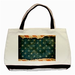 Grunge Ripped Paper Usa Flag Basic Tote Bag by Mariart