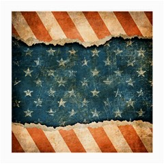 Grunge Ripped Paper Usa Flag Medium Glasses Cloth (2 Side) by Mariart