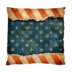 Grunge Ripped Paper Usa Flag Standard Cushion Case (one Side) by Mariart