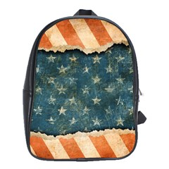 Grunge Ripped Paper Usa Flag School Bags (xl)  by Mariart