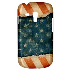 Grunge Ripped Paper Usa Flag Galaxy S3 Mini by Mariart