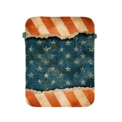 Grunge Ripped Paper Usa Flag Apple Ipad 2/3/4 Protective Soft Cases by Mariart