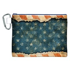 Grunge Ripped Paper Usa Flag Canvas Cosmetic Bag (xxl) by Mariart