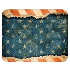 Grunge Ripped Paper Usa Flag Double Sided Flano Blanket (medium)  by Mariart