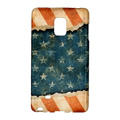Grunge Ripped Paper Usa Flag Galaxy Note Edge by Mariart
