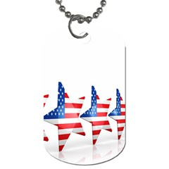 Multiple Us Flag Stars Line Slide Dog Tag (two Sides) by Mariart