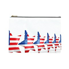 Multiple Us Flag Stars Line Slide Cosmetic Bag (large)  by Mariart