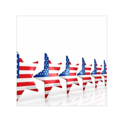 Multiple Us Flag Stars Line Slide Small Satin Scarf (square) by Mariart